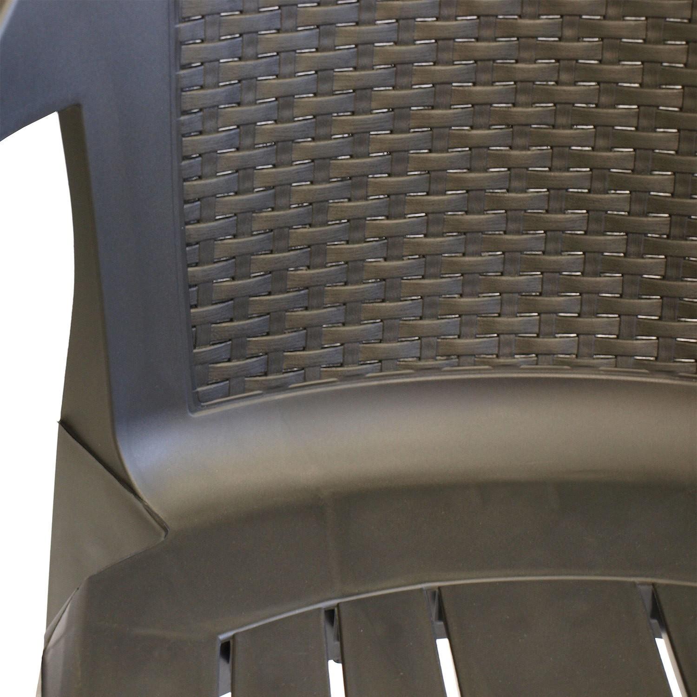 4er set gartenstuhl stapelbar kunststoff rattan optik. Black Bedroom Furniture Sets. Home Design Ideas