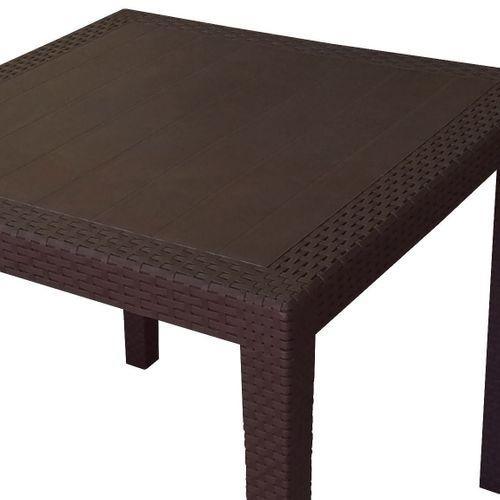 5tlg. Gartengarnitur Tisch 79x79 + 4x Stapelstuhl Kunststoff – Bild 4