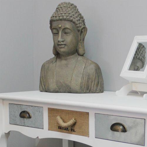 Buddhakopf 35,5x20x46cm / Gussbeton – Bild 7