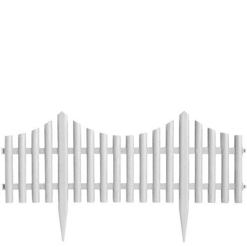 Dekozaun Gartenzaun Weiß - 4er – Bild 1