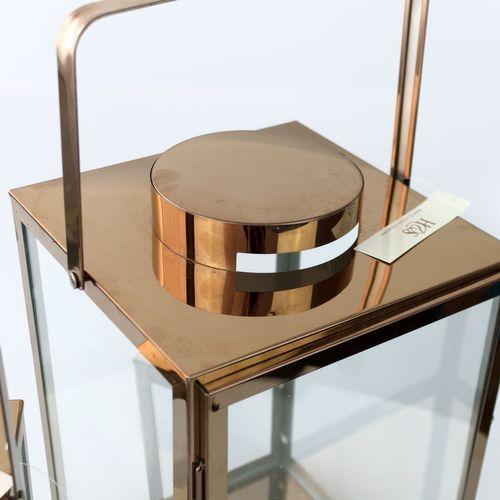 2tlg. Laternen-Set H40,5/30cm - Kupferfarben – Bild 4