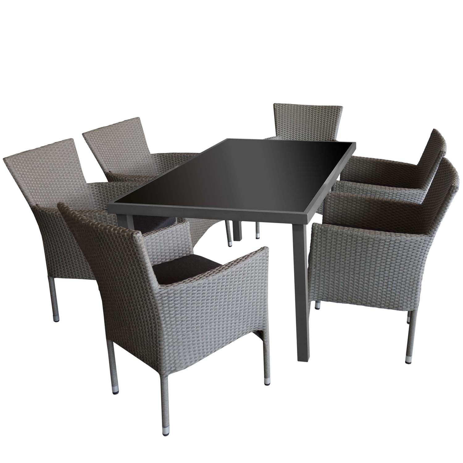 alu gartentisch glastisch 150x90cm balkontisch. Black Bedroom Furniture Sets. Home Design Ideas