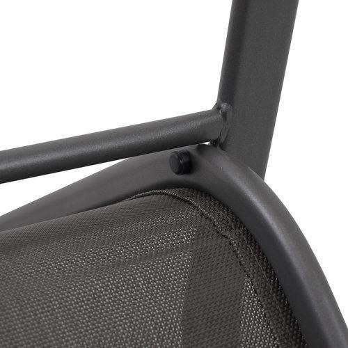 2 Stk. Stapelstuhl Stahlgestell Anthrazit / Textilen Anthrazit – Bild 4