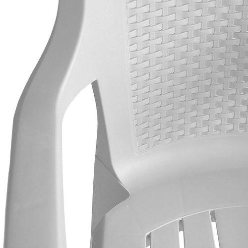 3tlg. Gartengarnitur 70x70cm + 2x Stapelstuhl Kunststoff – Bild 5