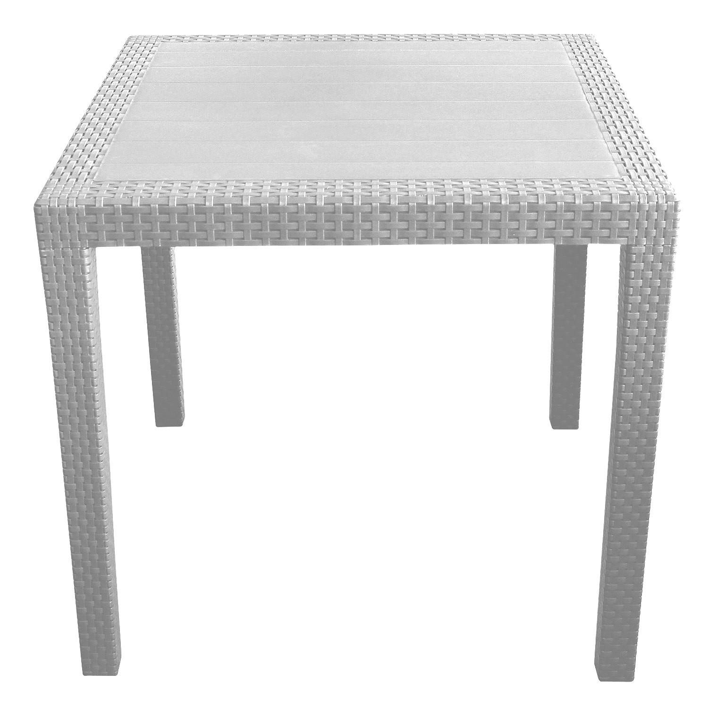 5tlg gartengarnitur kunststoff gartentisch 79x79cm. Black Bedroom Furniture Sets. Home Design Ideas