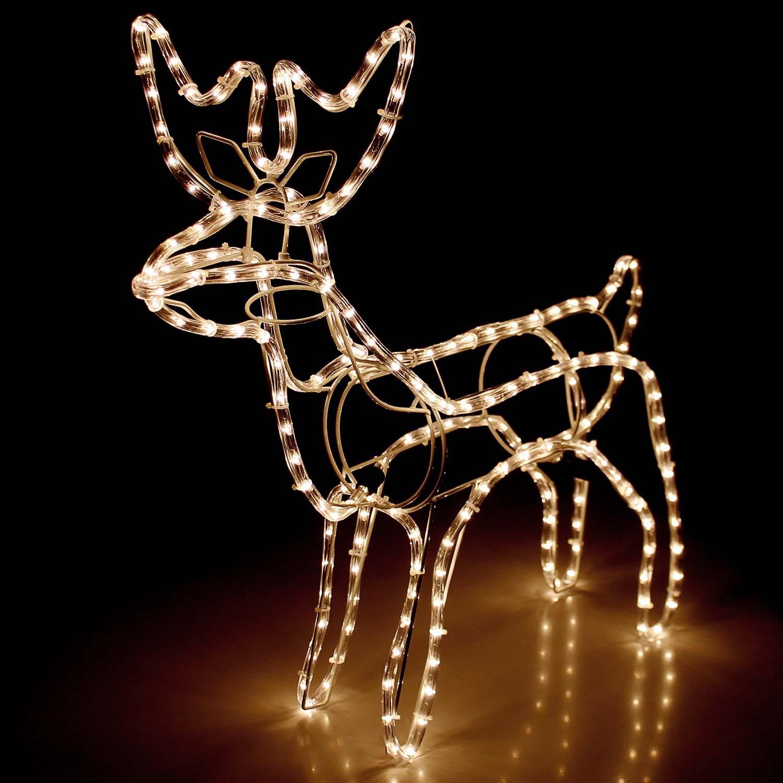 lichtschlauch rentier 60x27xh65cm weihnachten weihnachts beleuchtung. Black Bedroom Furniture Sets. Home Design Ideas