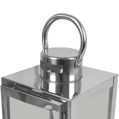 3tlg. Laternen-Set H56/42/30cm - Silber – Bild 4