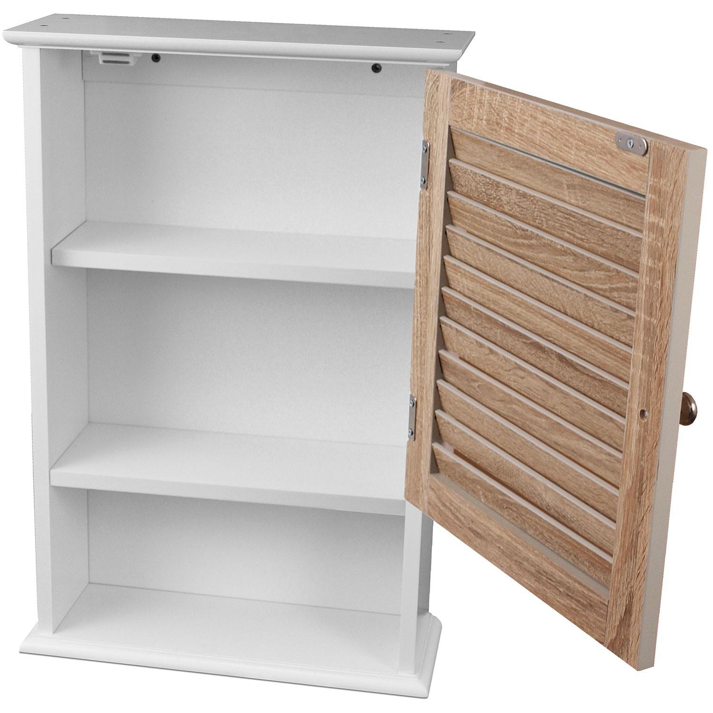 medizinschrank mit 1 t r 40x15x60cm holz mdf wohnen kleinm bel. Black Bedroom Furniture Sets. Home Design Ideas