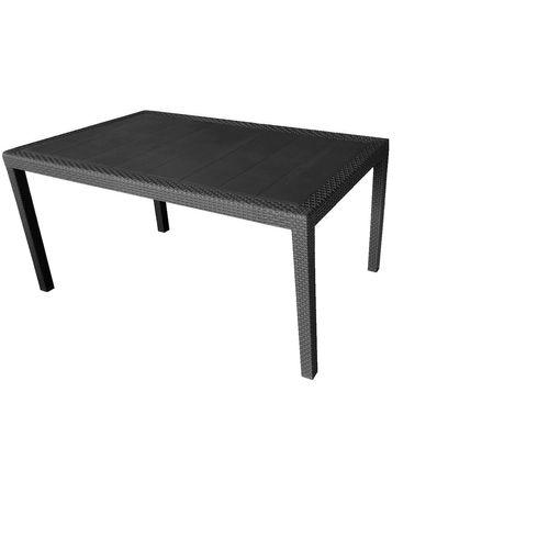 Gartentisch QUEEN Rattan-Look 150/220x90cm Kunststoff - Anthrazit – Bild 2