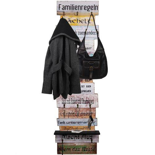 Wandpanele 42x10x145cm Familienregeln – Bild 2