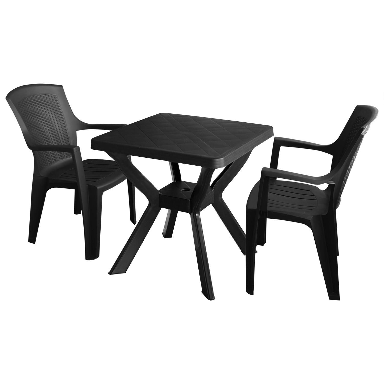 gartengarnitur balkonm bel bistro set 3tlg 70x70cm 2x. Black Bedroom Furniture Sets. Home Design Ideas