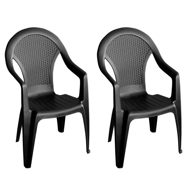 2 st ck stapelstuhl giglio anthrazit garten gartenm bel. Black Bedroom Furniture Sets. Home Design Ideas