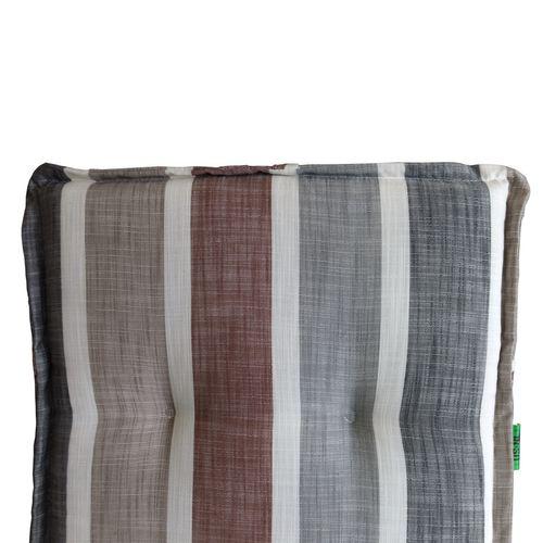 Hochlehner Polsterauflage - Brooklyn Grau, Braun gestreift 120x50cm - 6cm dick – Bild 2