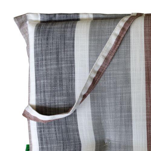Hochlehner Polsterauflage - Brooklyn Grau, Braun gestreift 120x50cm - 6cm dick – Bild 4