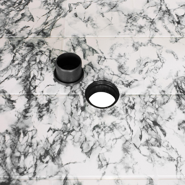 Gartentisch campingtisch beistelltisch 136x86cm oval for Marmor tischplatte oval