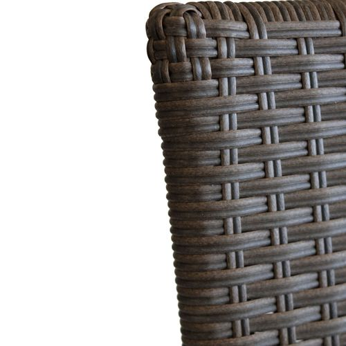 5tlg. Gartengarnitur Alu / Polywood 150x90cm + 4x Polyrattan Stapelstuhl braun-meliert – Bild 8