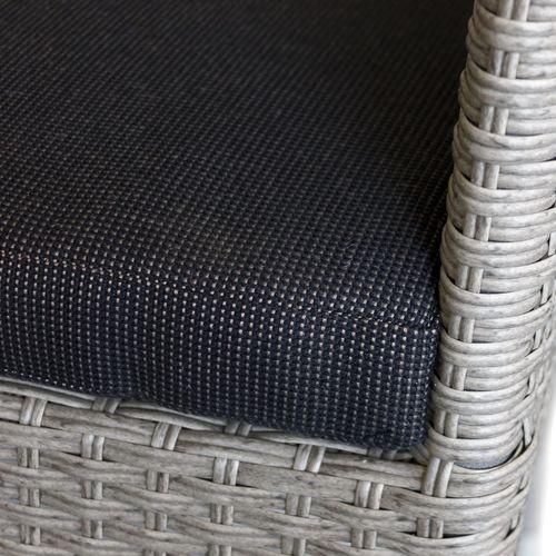 5tlg. Gartengarnitur Polywood 150x90cm + 4x Stapelsessel – Bild 7