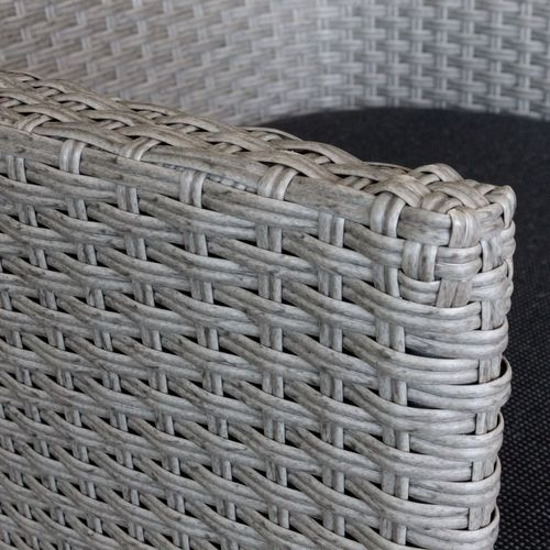 5tlg. Gartengarnitur Polywood 150x90cm + 4x Stapelsessel – Bild 8