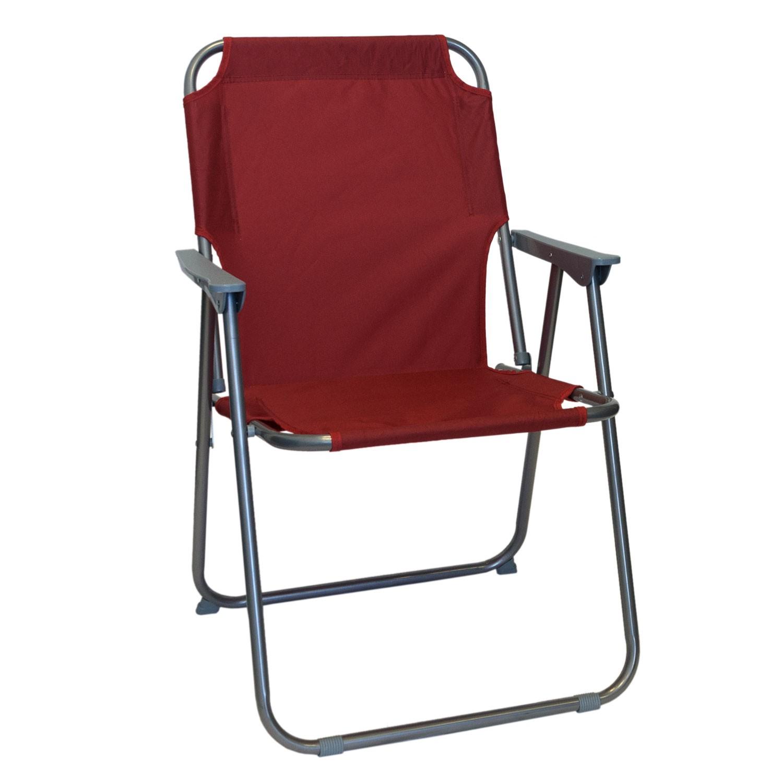 wohaga campingstuhl mit armlehnen klappbar rot. Black Bedroom Furniture Sets. Home Design Ideas