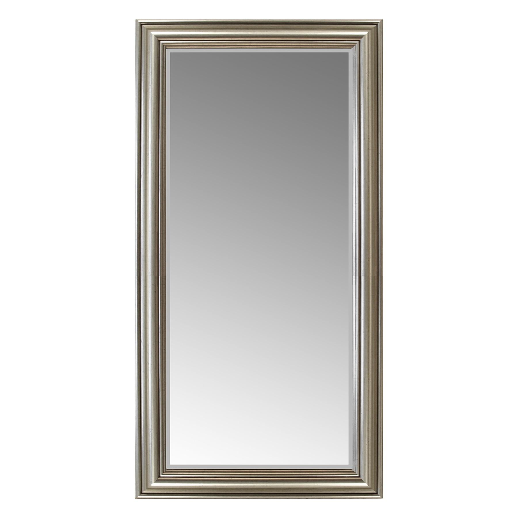 wandspiegel mit facettenschliff 102x52cm silbergold wohnen spiegel. Black Bedroom Furniture Sets. Home Design Ideas
