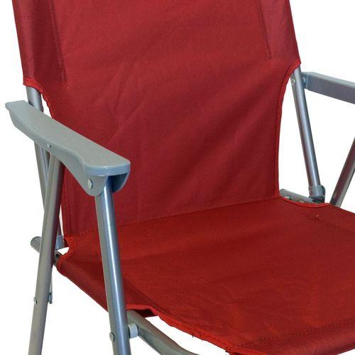 4tlg. Campingmöbel-Set Tisch + 3x Klappstuhl rot – Bild 8