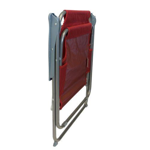 5tlg. Campingmöbel-Set Tisch + 4x Klappstuhl rot – Bild 9