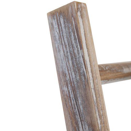 Holz Blumentreppe 40x119x37cm - Altweiss – Bild 2