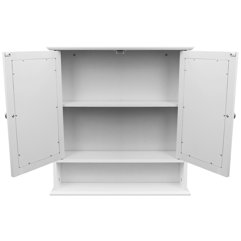 wandschrank mit spiegel ablage 56x13x58cm spiegelschrank. Black Bedroom Furniture Sets. Home Design Ideas