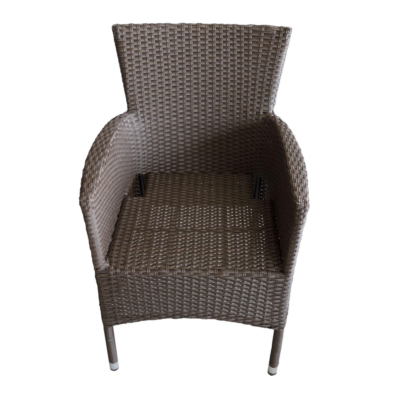 gartenm bel balkonm bel set tisch 79x79cm 2x rattan stapelsessel inkl kissen ebay. Black Bedroom Furniture Sets. Home Design Ideas