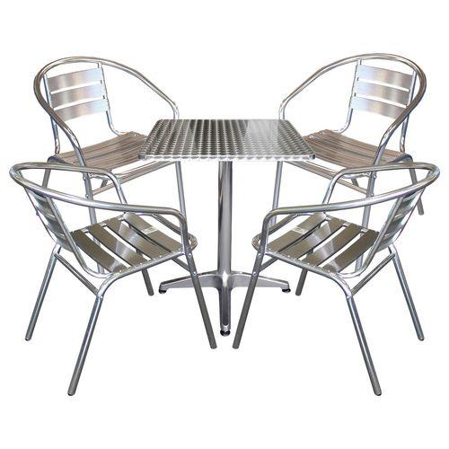 bistrogarnitur sitzgruppe gartenm bel set aluminium. Black Bedroom Furniture Sets. Home Design Ideas