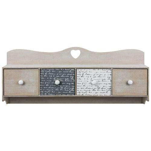 Hängeschrank 60x11x25cm mit Ablage und 4 Schubladen – Bild 2