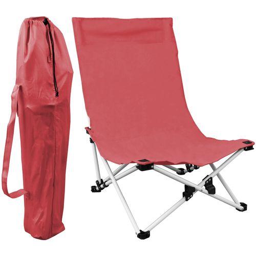Strandstuhl klappbar inkl. Transporttasche - Rot – Bild 1