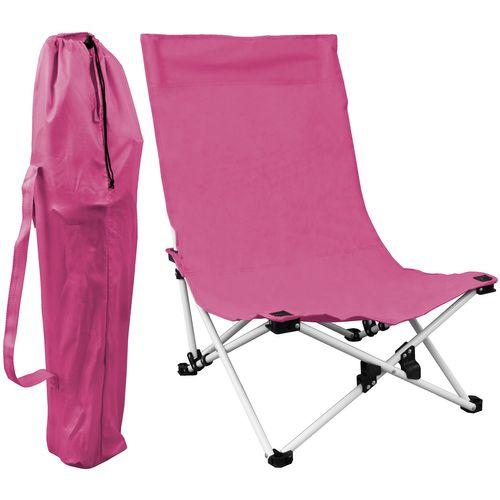 Strandstuhl klappbar inkl. Transporttasche - Pink – Bild 1