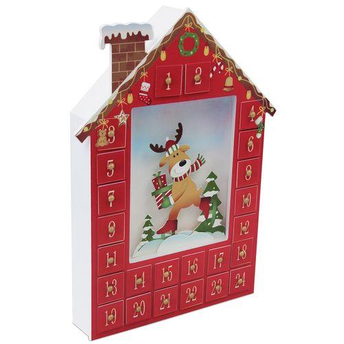 adventskalender weihnachtskalender haus zum bef llen 36x27x5cm modell 1 ebay. Black Bedroom Furniture Sets. Home Design Ideas