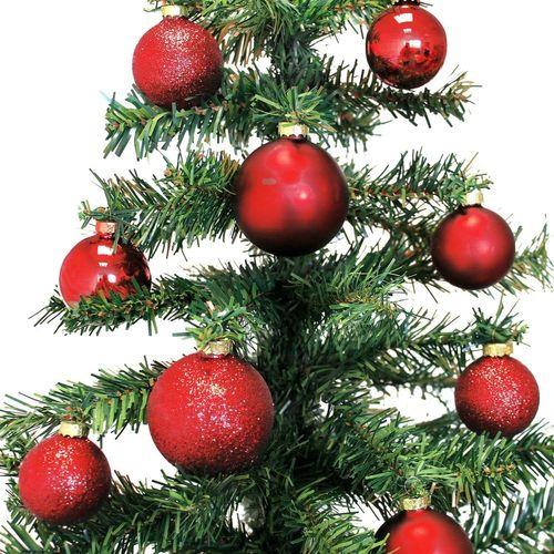 42 Stück Weihnachtskugeln Ø5/5,5/6,5cm - Rot – Bild 4
