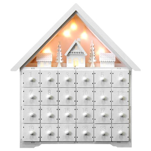 Adventskalender mit LED-Beleuchtung, selbst befüllen 42x39x9cm – Bild 1