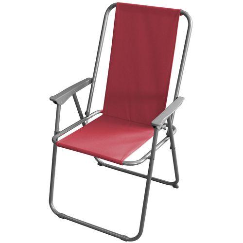 Campingstuhl klappbar Metall / Polyester - Rot – Bild 1