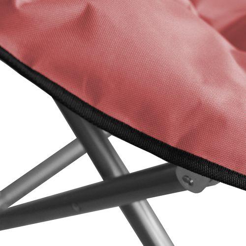 Campingstuhl klappbar Metall / Polyester - Rot – Bild 4