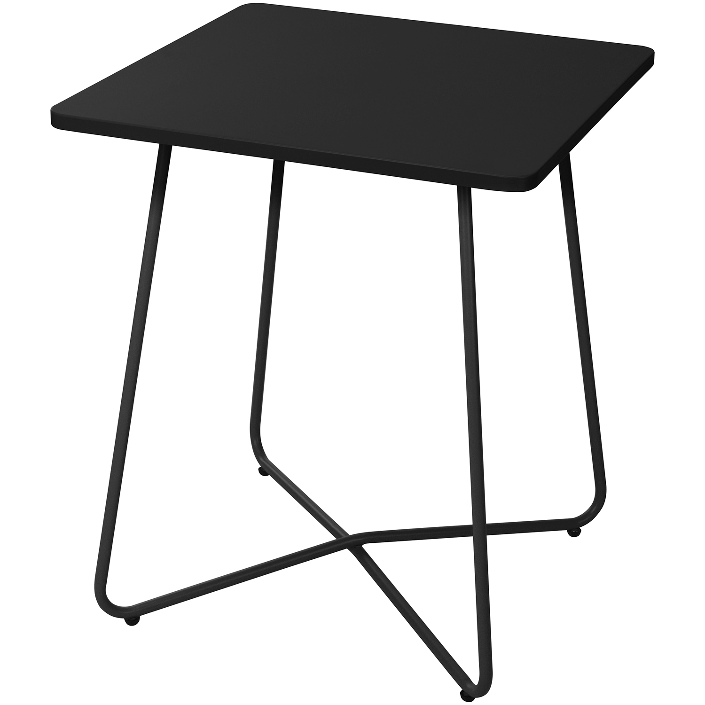 Bistrotisch metall 60x60cm schwarz garten gartenm bel - Bistrotisch mit 2 stuhlen metall ...