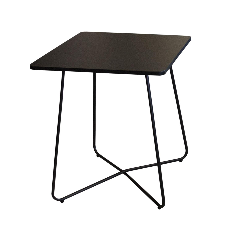 3tlg balkonm bel set bistrotisch 60x60cm schwarz 2x. Black Bedroom Furniture Sets. Home Design Ideas