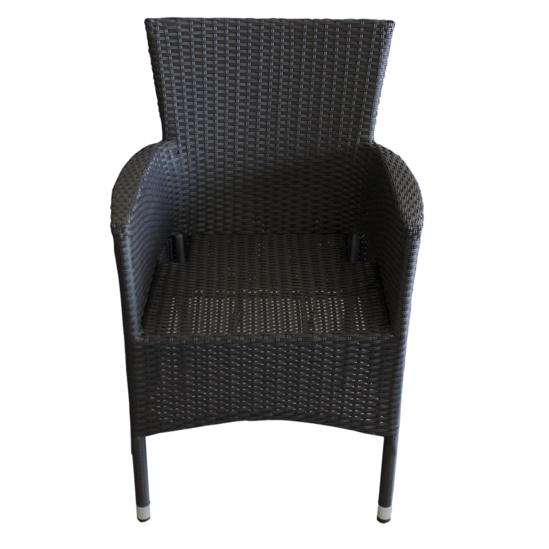 5tlg gartengarnitur rattan optik kunststoff schwarz matt. Black Bedroom Furniture Sets. Home Design Ideas