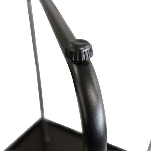 5tlg. Balkonmöbel-Set Bistrotisch 60x60cm Schwarz + 4x Klappstuhl Tampa Anthrazit – Bild 6