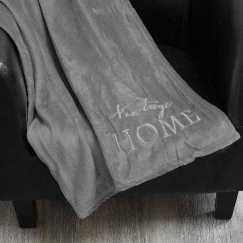 Wohndecke Vintage Home 130x160cm - Grau – Bild 6