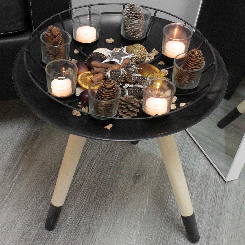Teelichthalter 34xh9cm inkl 8 gl ser wohnen dekoration for Wohnen dekoration