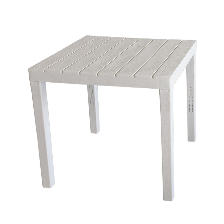 gartentisch bali holzoptik kunststoff 78x78cm wei. Black Bedroom Furniture Sets. Home Design Ideas