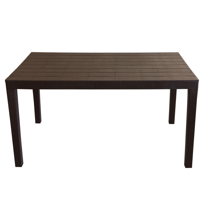 Gartentisch Sumatra Holzoptik Kunststoff 138x78cm - Mokka Garten ...