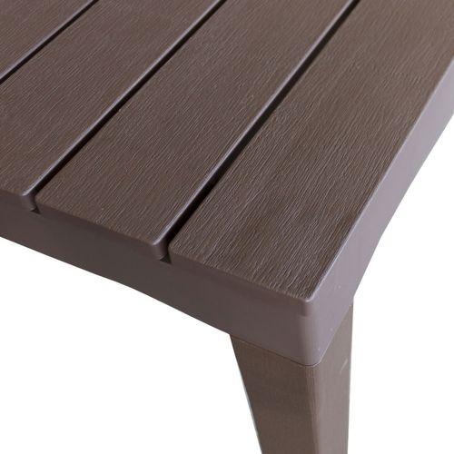 Gartentisch Sumatra Holzoptik Kunststoff 138x78cm - Mokka – Bild 3