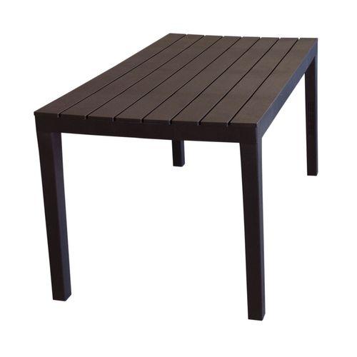 Gartentisch Sumatra Holzoptik Kunststoff 138x78cm - Mokka – Bild 2