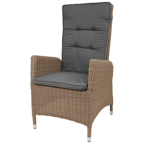 poly rattan sessel rattansessel gartensessel cappuccino inkl auflage grau 4260524311143 ebay. Black Bedroom Furniture Sets. Home Design Ideas
