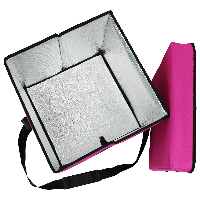 faltbare k hltasche 38x38x38cm falthocker klapphocker inkl k hlfach pink ebay. Black Bedroom Furniture Sets. Home Design Ideas